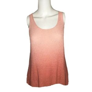 Women's Dusty Pink Ombre Sleeveles Knit Tank Top